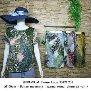 Casual blouse colorful woman