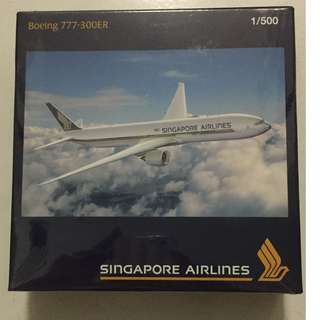 Singapore Airlines Boeing 777-300ER model aircraft