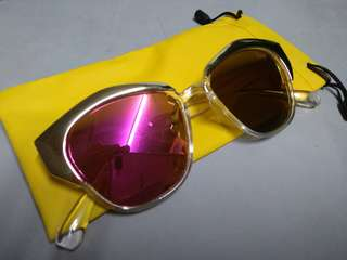 Pink Shades with pouch and wiper