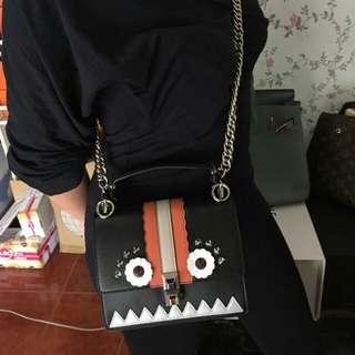 FENDI KAN I CHAIN BAG COMPLETE