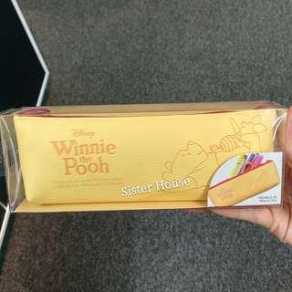 🇰🇷Disney Winnie the Pooh  Pencil Case 廸士尼小熊維尼壓紋筆袋