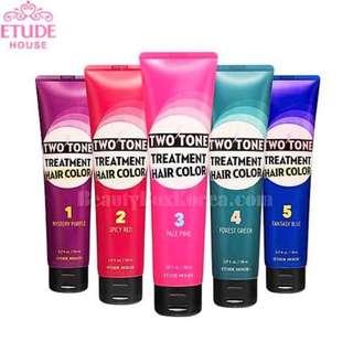 ETUDE HOUSE TWO TONE TREATMENT HAIR COLOR!!💓