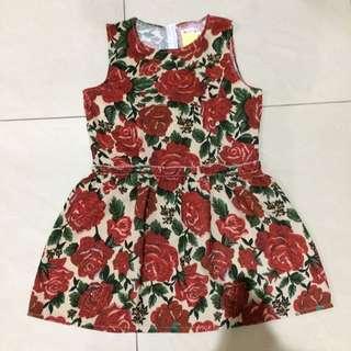 Mini Dress Bunga Import
