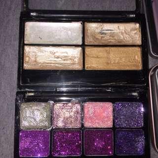 $10 for all or $5ea Eye shadows, eye glitter and highlight palette