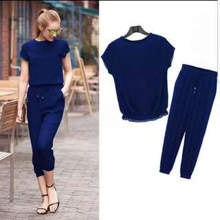 Top and crop pants