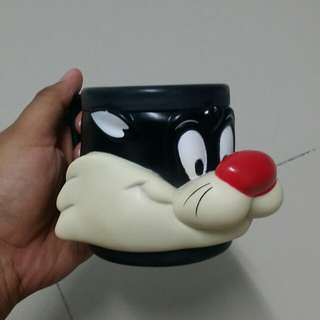 Vintage Sylvester The Cat Warner Bros Official Mug (1992)