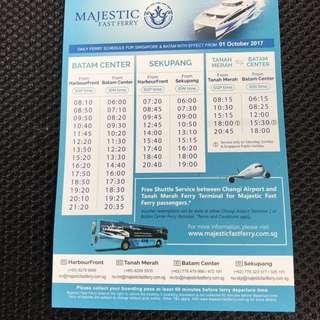Cheap Majestic Ferry E-Tickets