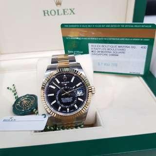 ROLEX SKY DELLWER annual calendardual, + Rolex Pen + Watch winder.