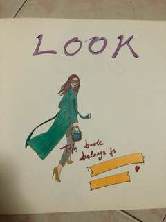 Suwa Korea LOOK Fashion illustrations colouring book