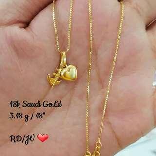 18k saudi gold,pawnable