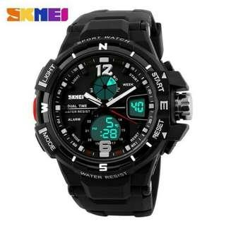 Jam Tangan Pria Sport Analog LED Watch