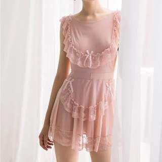 sexy pajamas lace nightdress with panty🎀