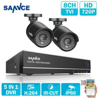 SANNCE 1080N HD 8CH CCTV Video Security System 2pcs Micro Camera  Surveillance kit IR Outdoor Weatherproof