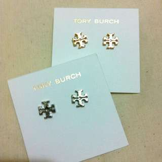 Tory Burch earring logo 耳環 全新正貨
