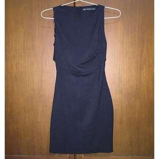 Zara trf black dress