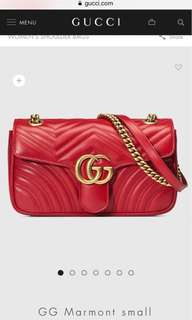 Gucci marmont bag small size
