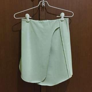 Zara overlap skirt mint