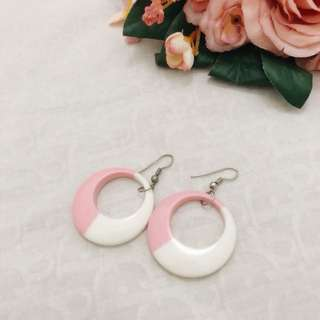 PINK WHITE EARRINGS