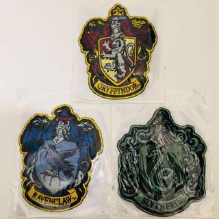(Last pc!) Universal studios Japan Harry Potter gryffindor ravenclaw slytherin iron on patches scarf