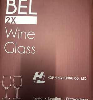 無鉛水晶紅酒杯 x2