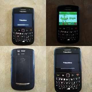 hp second bb bold blackberry 9650 murah hitam normal siap pakai siap kirim