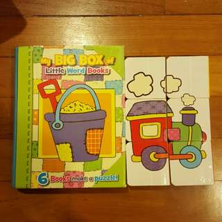 Baby block books and puzzles