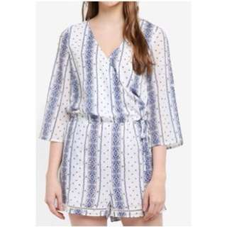 Something Borrowed Printed Romper
