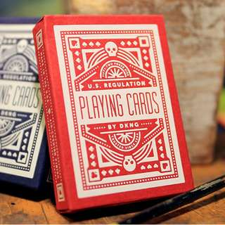 DKNG 'Red Wheel' - Bicycle Playing Cards