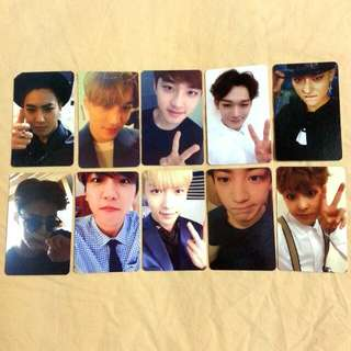 Exo Exodus Duplicate Photocard Set