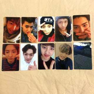 [Set] Exo Exodus Duplicate Photocards
