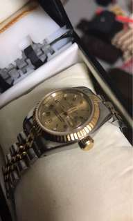 ROLEX Oyster Perpetual Dayjust with DIA / 18K Gold for ladies