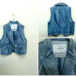 Vest Rompi Jeans Denim Fashion