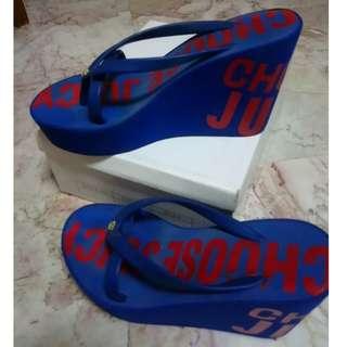 Blue Platform Shoes Size 8