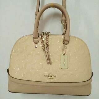 Coach Mini Sierra Signature Debossed Patent Leather
