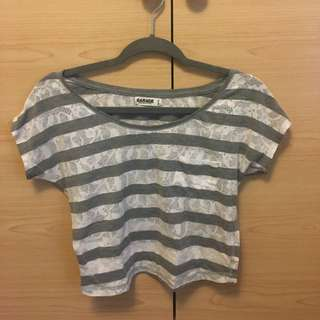xs Loose Fit Striped Top