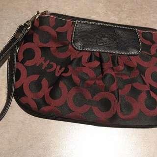 Coach wristlet handbag purse