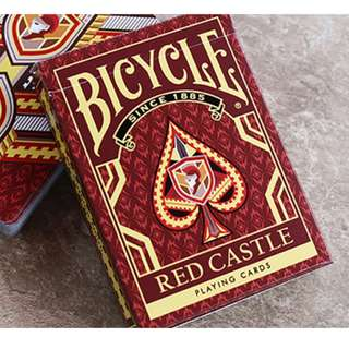Bicycle Red Castle Playing Cards by Collectible Playing Cards