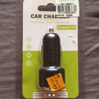 2A USB雙孔車用充電頭(黑)
