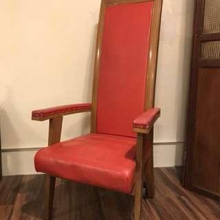 英籍時期 法官櫈 椅子 chair 復古 懷舊 道具 高背櫈 高背椅