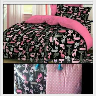 Bed cover+sprei motif kucing