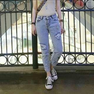 Jeans sobek kaktus