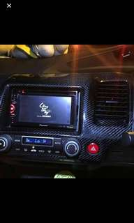 Honda Civic interior carbon fiber sticker
