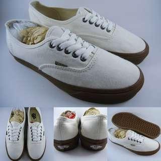 Sepatu Vans Vans Authentic Marshmallow Gum Off White Gumsole Putih Gading