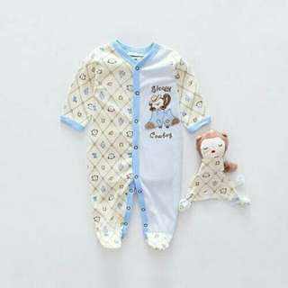 Baby jump suit with doll