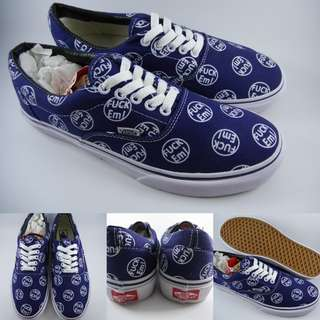 Sepatu Kets Supreme X Vans Era Fvck Em Collaboration Navyblue Biru