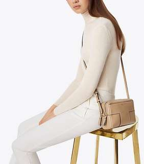 BLOCK-T PEBBLED DOUBLE-ZIP CROSS-BODY