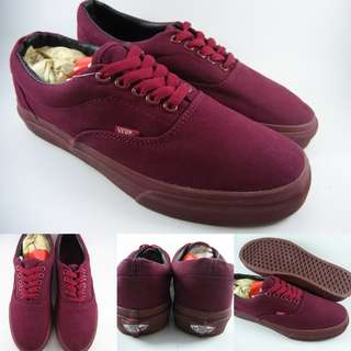 Sepatu Kets Vans Era Tonal Pack Canvas Mono All Maroon Marun