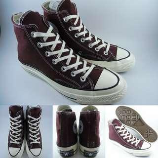 Sepatu Kets Converse Allstar 70s Seventies Classics Canvas High Maroon Marun