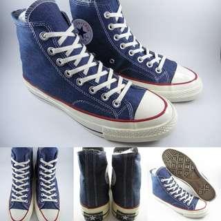 Sepatu Kets Converse Allstar Chucktaylor 70s Seventies Denim High Blue Biru