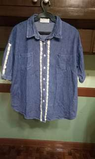 Denim Blouse for Plus Size
